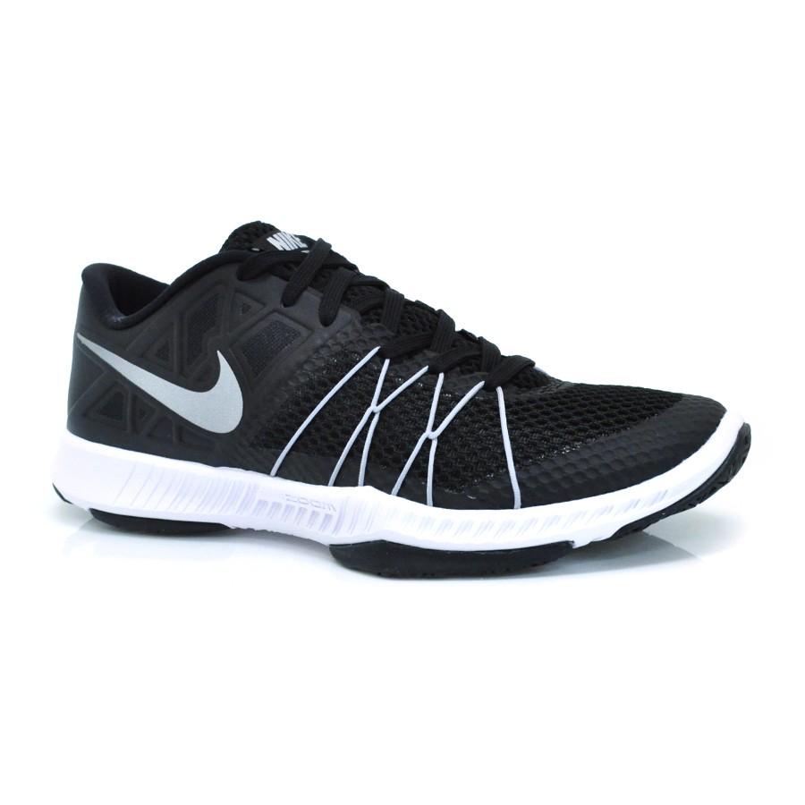 69f3339304c Tênis Nike Zoom Train Augmento PRETO PRATA BRANCO Com o Melhor Preço ...