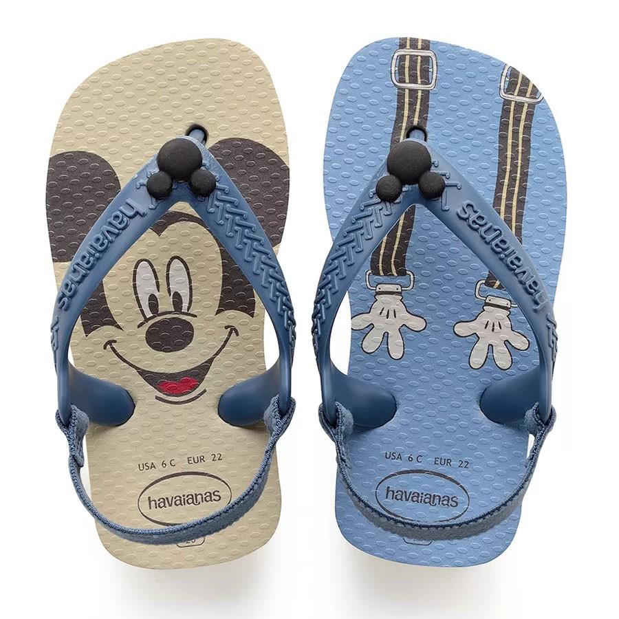 9b6fee5154 Chinelo Bebê Havaianas Baby Disney BEGE PALHA 0121 Com o Melhor ...