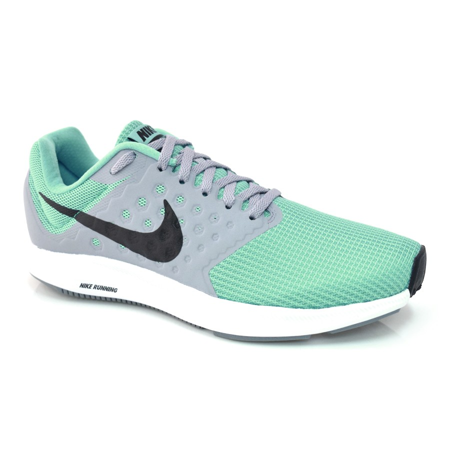 Tênis Nike Downshifter 7 VERDE AGUA PTO CINZA Com o Melhor Preço na ... dc43aa98549e2