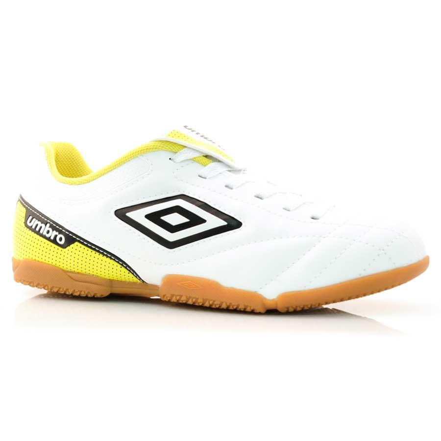 Tênis Indoor Umbro Attak BRANCO PRETO AMARELO Com o Melhor Preço na ... 88f2baba46c9c