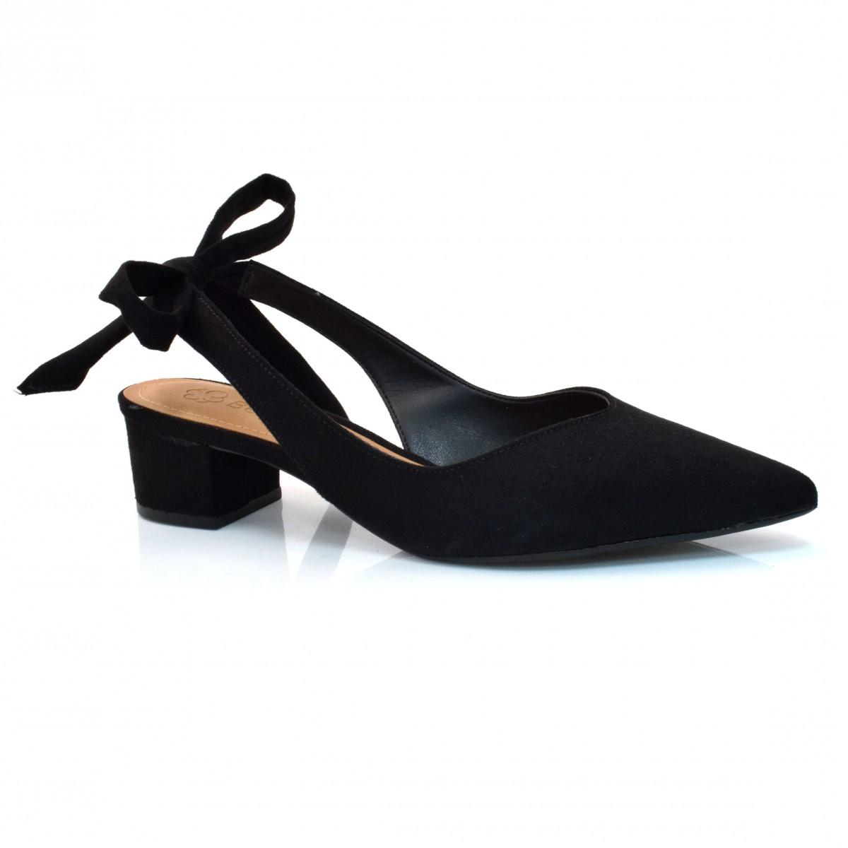 0405080731 Sapato Chanel De Salto Baixo Bebecê CM PRETO (S) Com o Melhor Preço ...