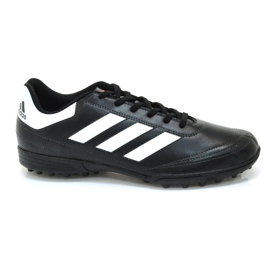 Chuteira Adidas Society Goletto PRETO BRANCO LARANJA Com o Melhor ... 164bb5024baed