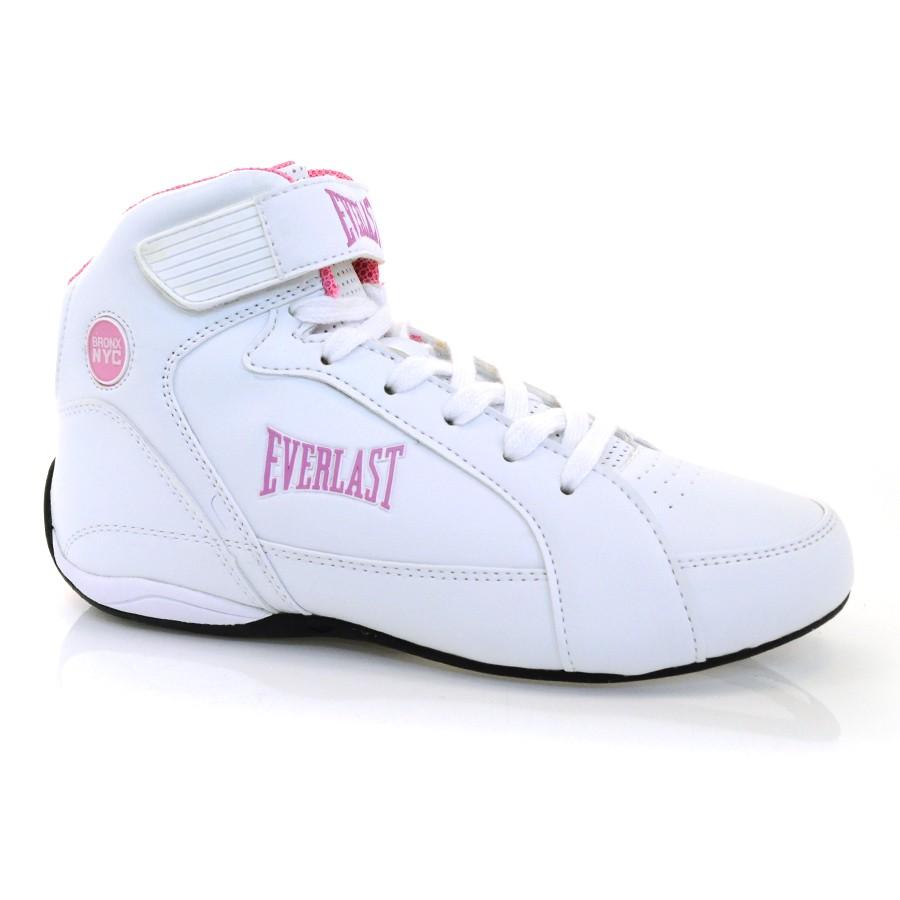 9a9096ef8 Tênis Feminino Everlast Jump BRANCO/PINK/PRETO Com o Melhor Preço na ...