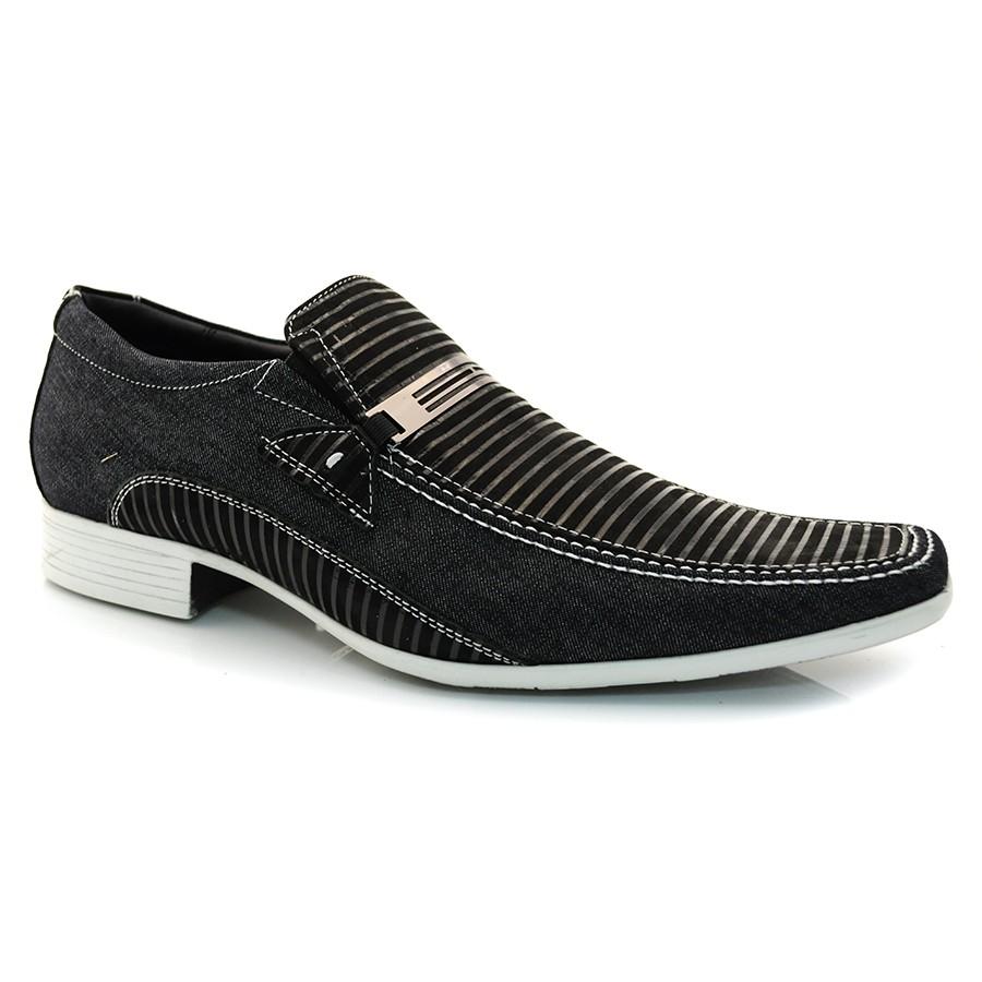 853c06e57 Sapato Social Masculino Jota Pe JEANS FANO PRETO Com o Melhor Preço ...