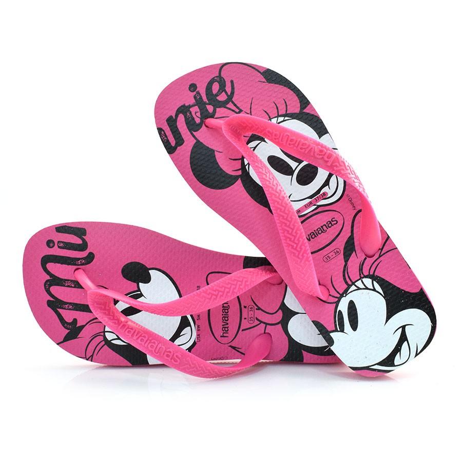 2be2df9d5 Chinelo Havaianas Top Disney ROSA HOLLY 0064 Com o Melhor Preço na ...