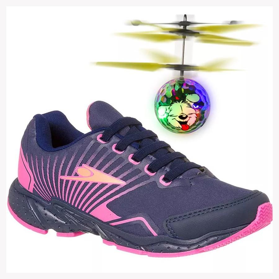 a3e6754d7 Tênis Infantil Klin Drone Mania + Brinde MARINHO PINK 4299 Com o ...
