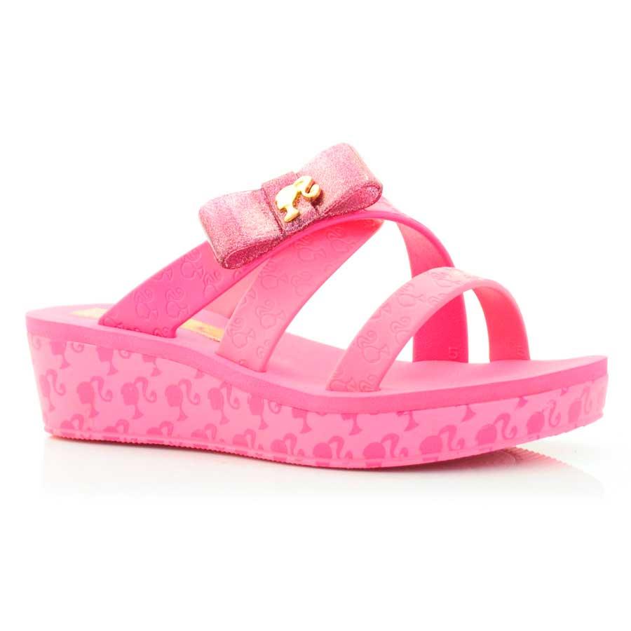 2fc3c92fbe Tamanco Infantil Barbie Color Glamour + Chapinha ROSA ROSA Com o ...