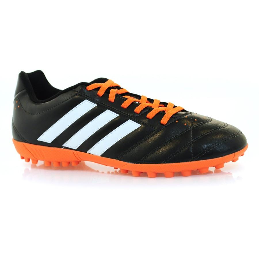 e71365dc46 Chuteira Society Adidas Goletto PRETO BCO LARANJA Com o Melhor Preço ...