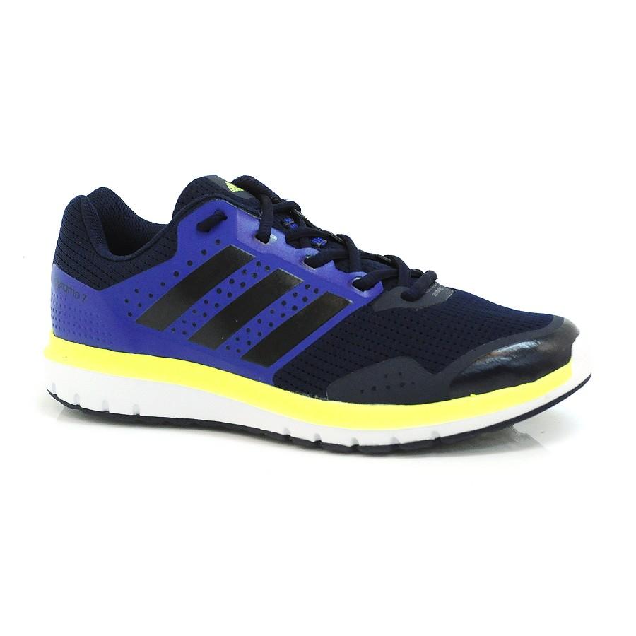 1ce810710e1 Tênis Masculino Azul Adidas Duramo 7 MARINHO PRETO ROXO Com o Melhor ...