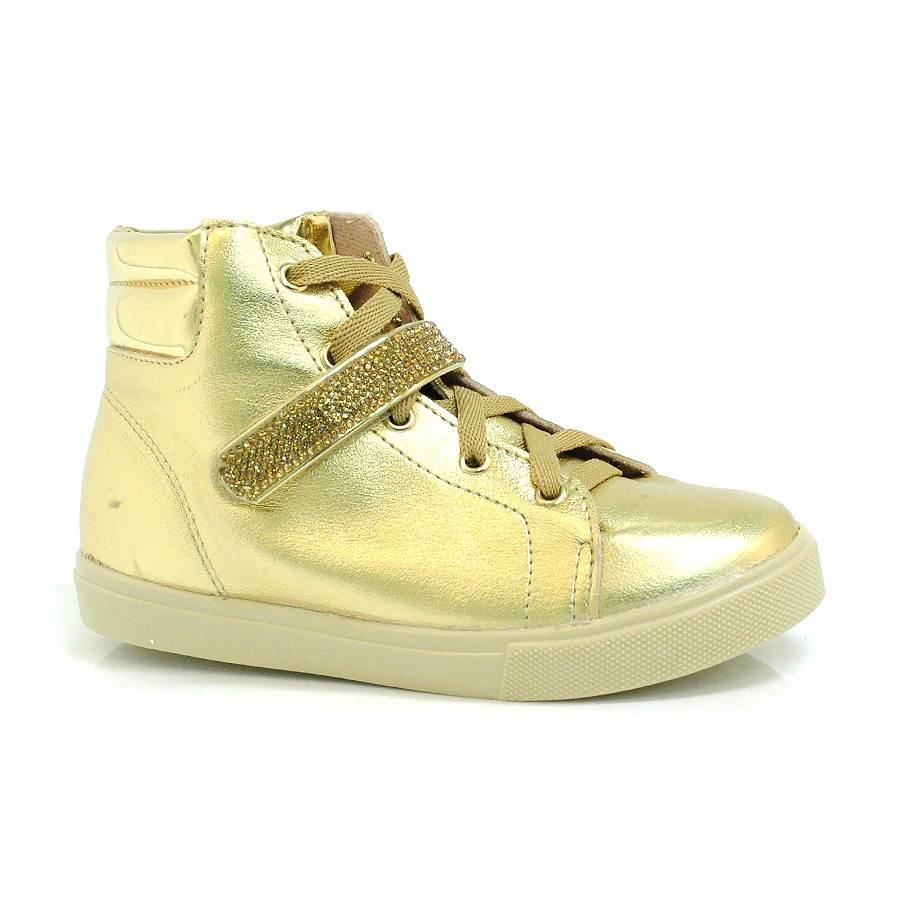 new style bc1f4 94496 Passe o mouse para ver detalhes. Ampliar imagem. Tênis Sneakers Infantil  Molekinha Dourado ...