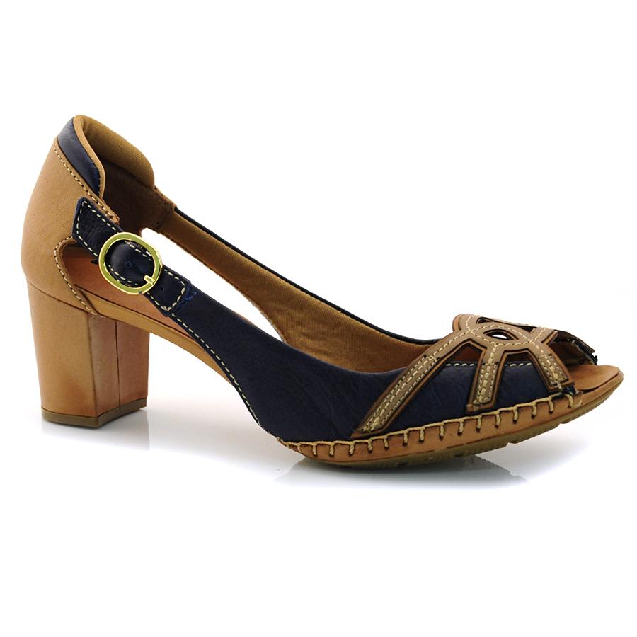 33d5dd567b Sapato Retro Feminino Suzzara MARINHO PALHA TAN Com o Melhor Preço ...