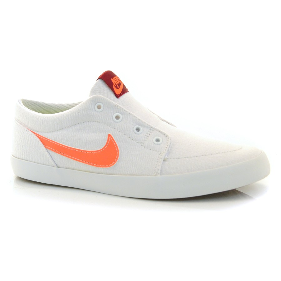f80b1eebaae Tênis Nike Futslide Slip BRANCO LARANJA Com o Melhor Preço na Vizzent