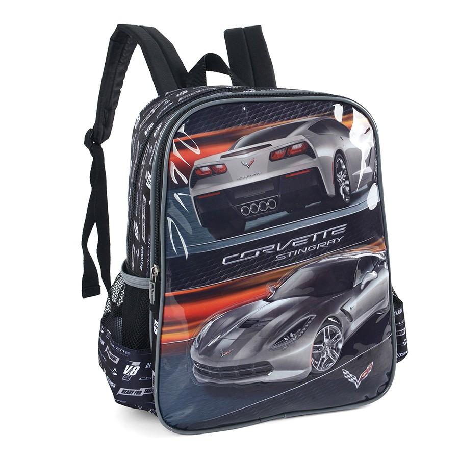 a90034cf3 Mochila Infantil Luxcel Corvette PRETO/CINZA Com o Melhor Preço na ...