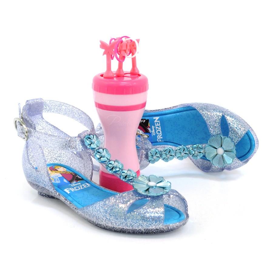 29e81a38f Sandália Feminina Infantil Disney Frozen VIDRO GLITER 3700 Com o ...