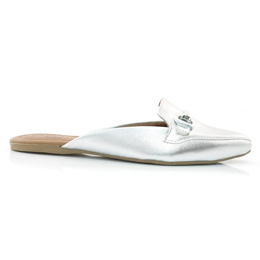 9e851cd21 Sapato Mule Emily Prata Ou Dourado