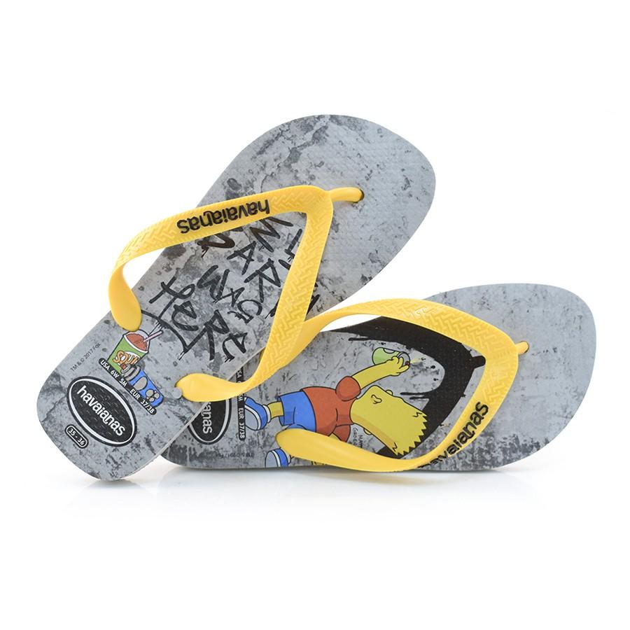 ad7bad511 Chinelo Havaianas Simpsons CINZA/AMARELO 0110 Com o Melhor Preço na ...