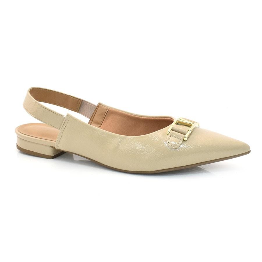 dcb9a6486e Sapato Chanel Feminino Vizzano VZ BEGE 13967 Com o Melhor Preço na ...