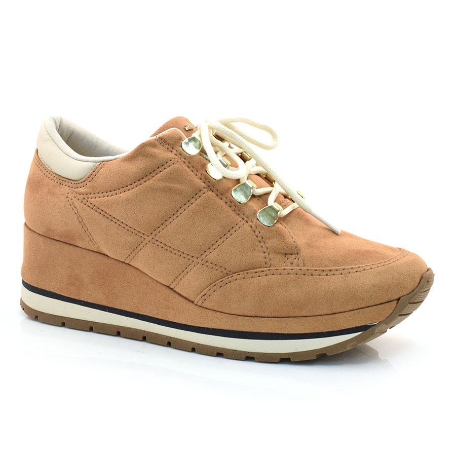 ce6ea9989 Sneaker Feminino Dakota OCRE/MARFIM 001(S/T) Com o Melhor Preço na ...