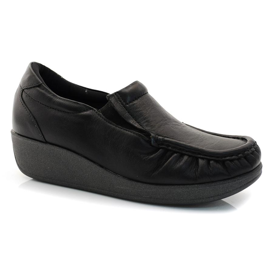 e76004024 Sapato Mocassim Feminino Usaflex CAPRINA PRETO Com o Melhor Preço na ...