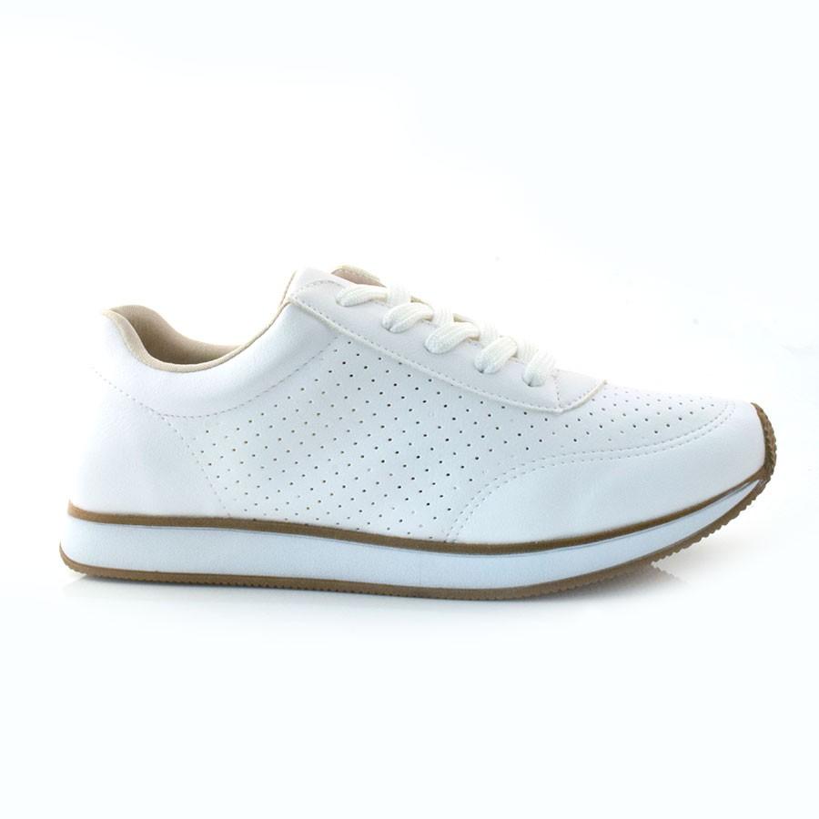 a6face993b Tênis Jogging Branco Via Marte NP BRANCO (S) Com o Melhor Preço na ...