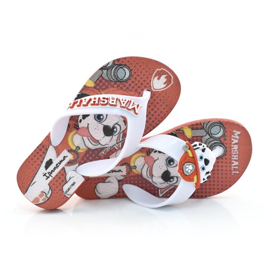 5a8065079 Chinelo Infantil Ipanema Patrulha Canina VERMELHO BCO 20642 Com o ...