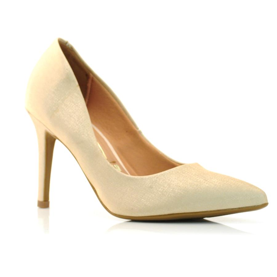 ce81b15ec Sapato Scarpin Feminino Vizzano CETIM DOURADO Com o Melhor Preço na ...