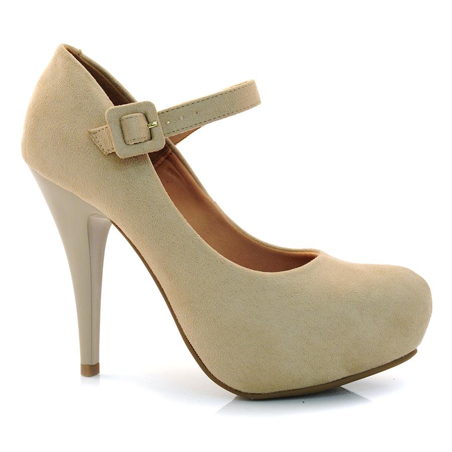 f89dfd9861 Sapato Scarpin Retro Feminino Vizzano CM BEGE Com o Melhor Preço na ...