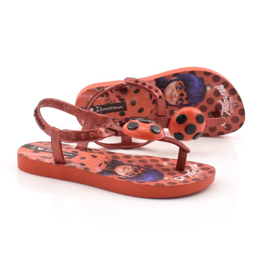 4bceb6892 Sandália Infantil Ipanema Ladybug VERMELHO/VERM 21513 Com o Melhor ...