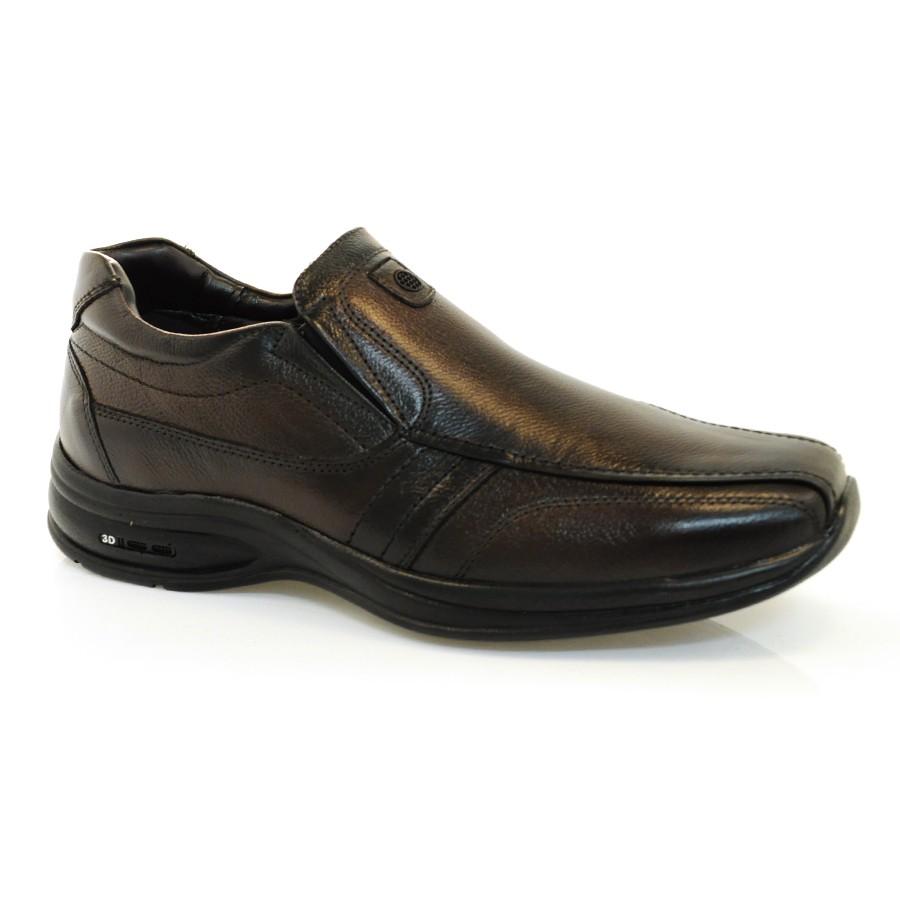 36cc1df805 Sapato Social Masculino Jota Pe 3d Air TESTONE DARK BROWN Com o ...