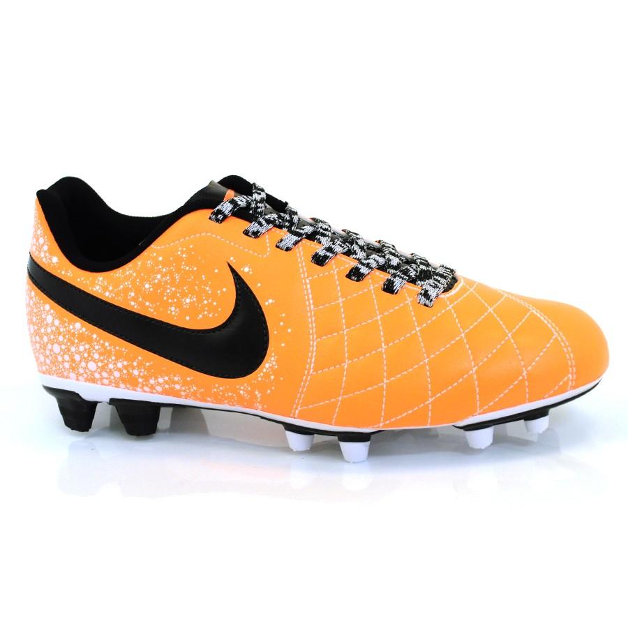 Chuteria Nike Flare 2 Fg LARANJA PRETO Com o Melhor Preço na Vizzent 2fe8cdc706d81