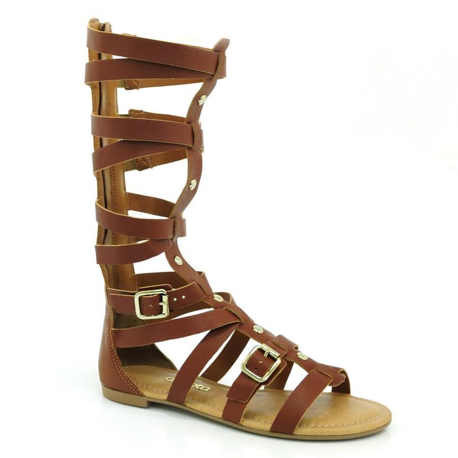 d05c8f5029 Sandália Gladiadora Feminina Dakota CASTANHO 004 Com o Melhor Preço ...