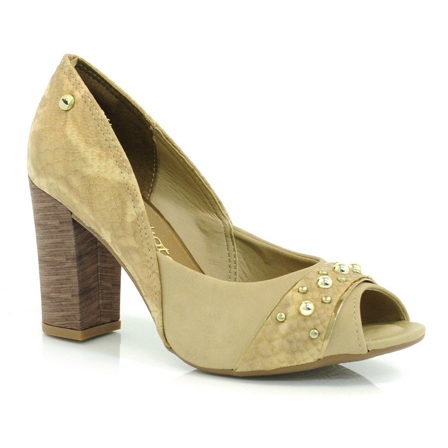 f6493c2d0 Sapato Peep Toe Feminino Dakota MARSALA NATURAL 001 Com o Melhor ...