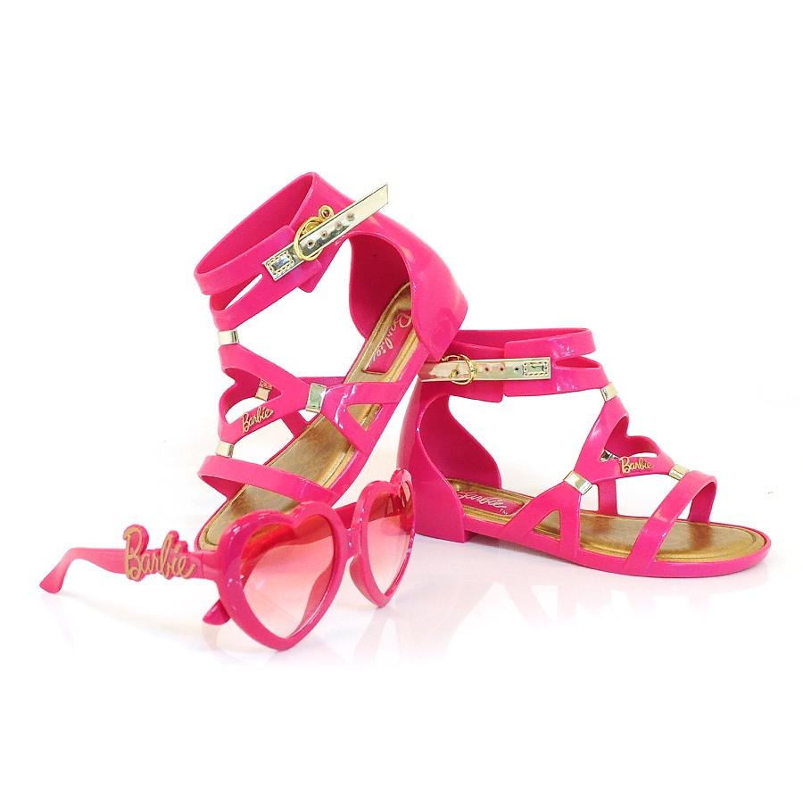 67752e4e5 Sandália Infantil Barbie Glamour + Brinde ROSA/DOURADO 51331 Com o ...