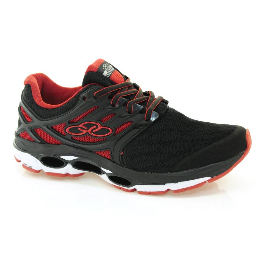 ba5f67769c5 Tênis Olympikus Masculino Sprint PRETO VERMELHO Com o Melhor Preço ...