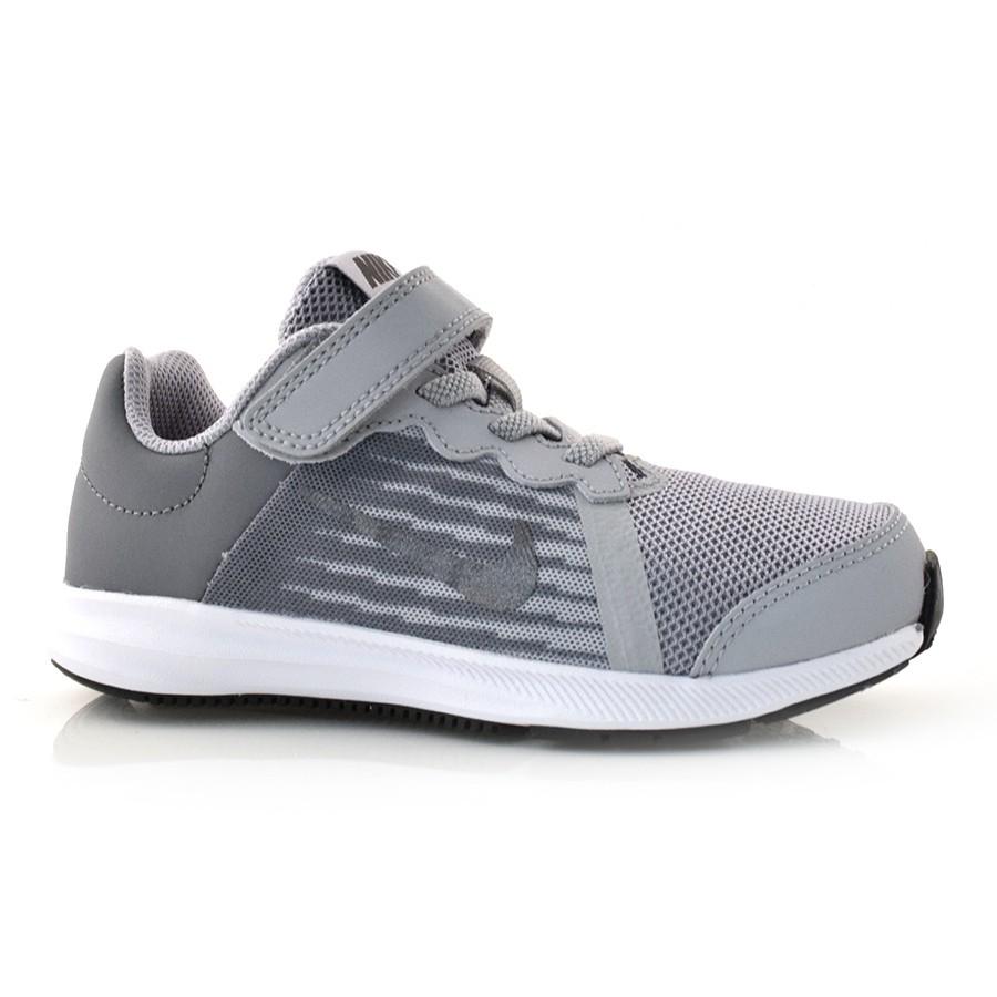 605392764 Tênis Nike Infantil Downshifter 8 CINZA BRANCO-002 Com o Melhor ...