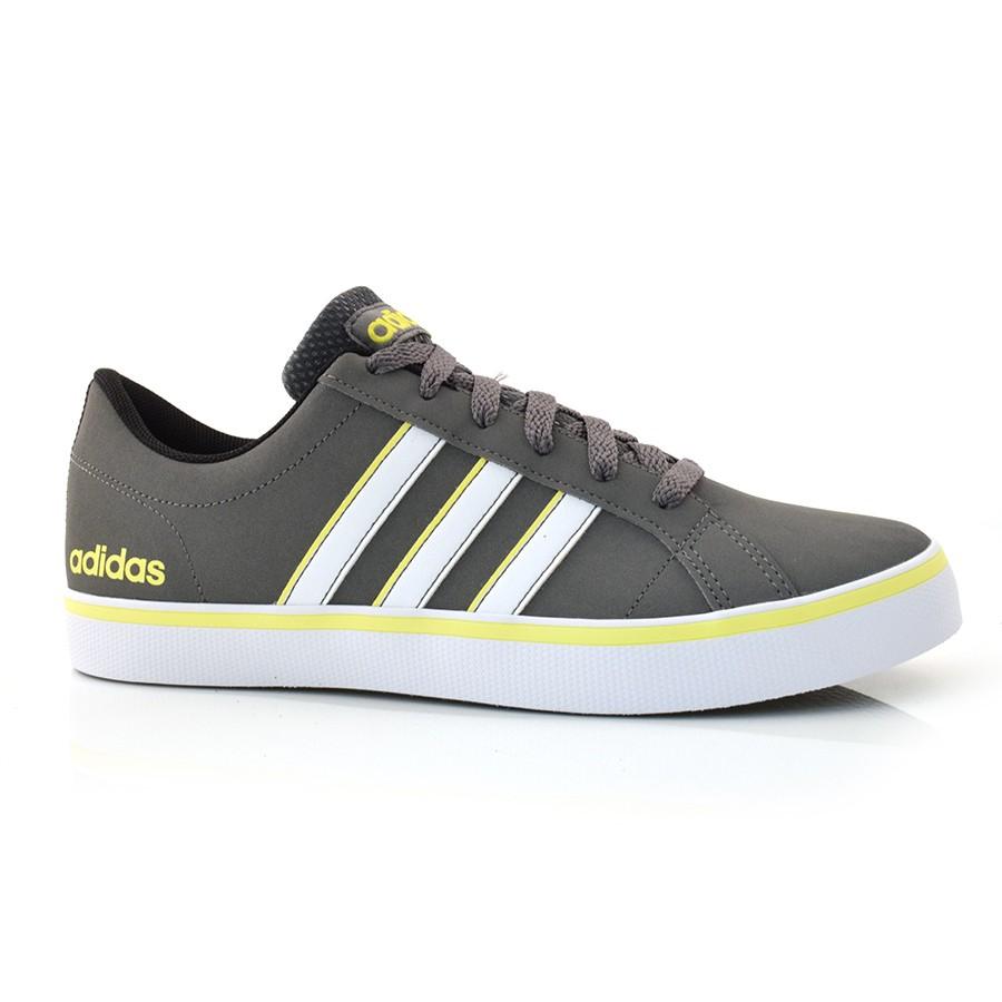 9b4826974e Tênis Masculino Adidas Pace CINZA/BCO/AMARELO Com o Melhor Preço na ...