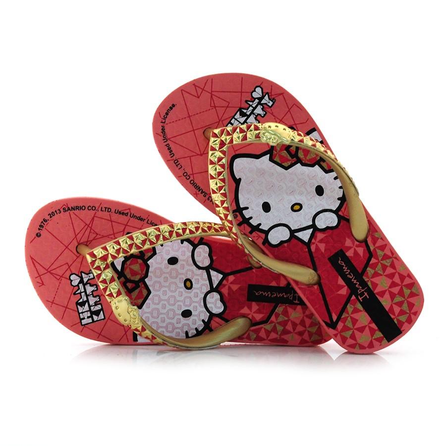 f8482d675 Chinelo Ipanema Infantil Hello Kitty ROSA/OURO Com o Melhor Preço na ...