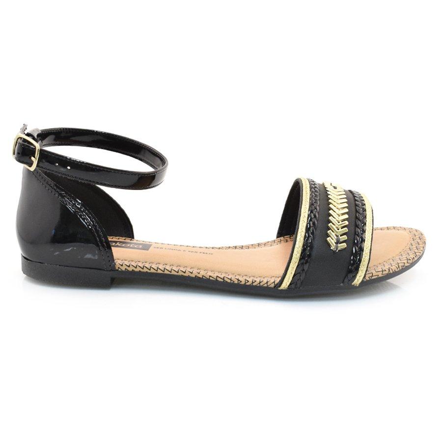 6ff3bb108 Sandália Rasteira Feminina Dakota PRETO 008 Com o Melhor Preço na ...