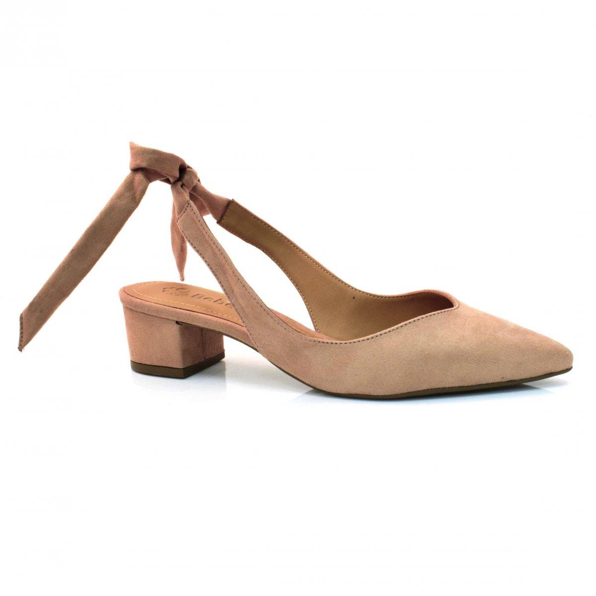 16efa2026f Sapato Chanel De Salto Baixo Bebecê CM ICE COFFEE (S) Com o Melhor ...