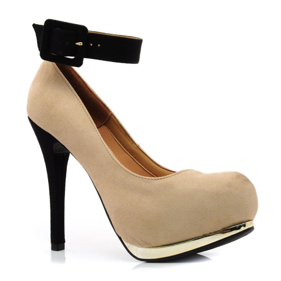 fd8aeffbcd Sapato Scarpin Feminino Vizzano CM BEGE PRETO Com o Melhor Preço na ...