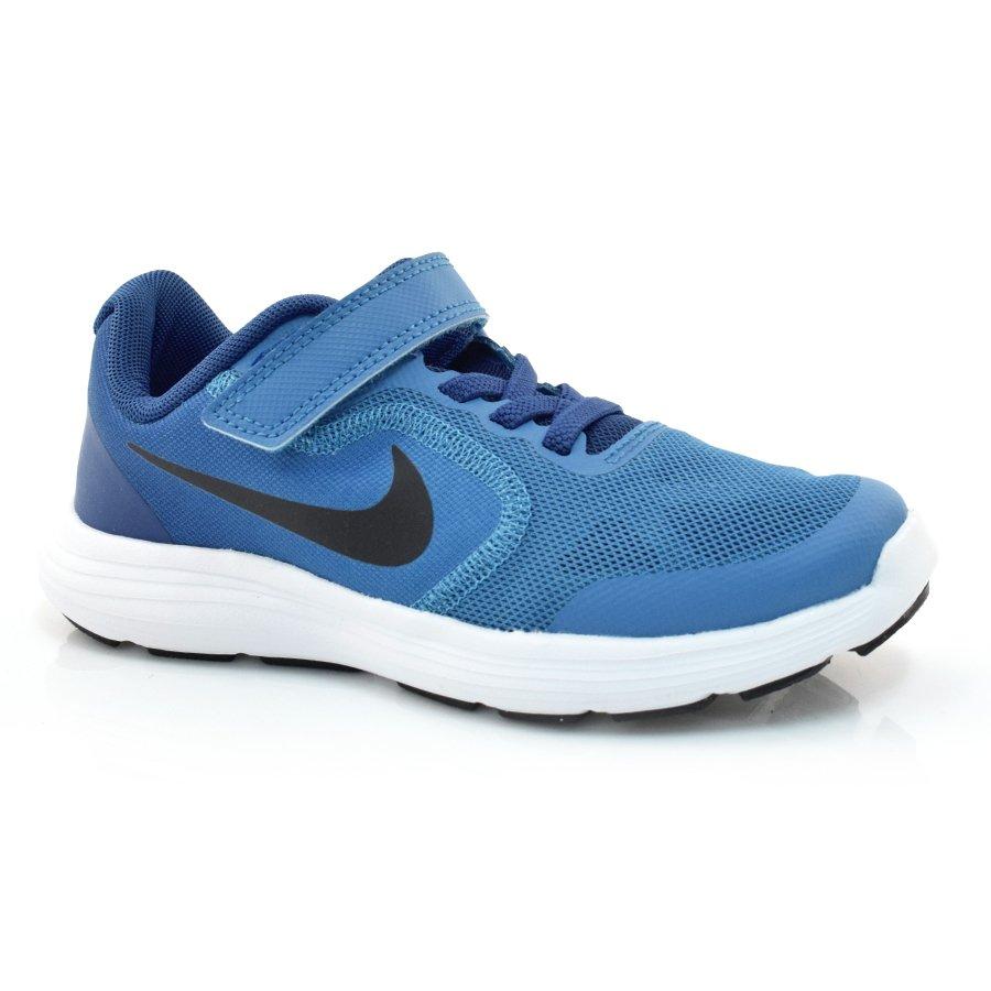 ead3914ae76 Tênis Infantil Nike Revolution 3 - 30 Ao 33 AZUL ROYAL PRETO Com o ...