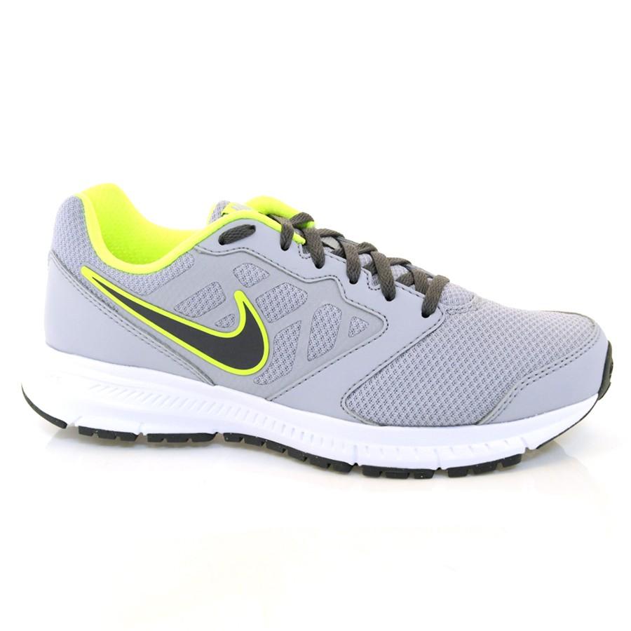 d863fcac7 Tênis Masculino Nike Downshifter 6 CINZA GRAFITE AMAREL Com o Melhor ...