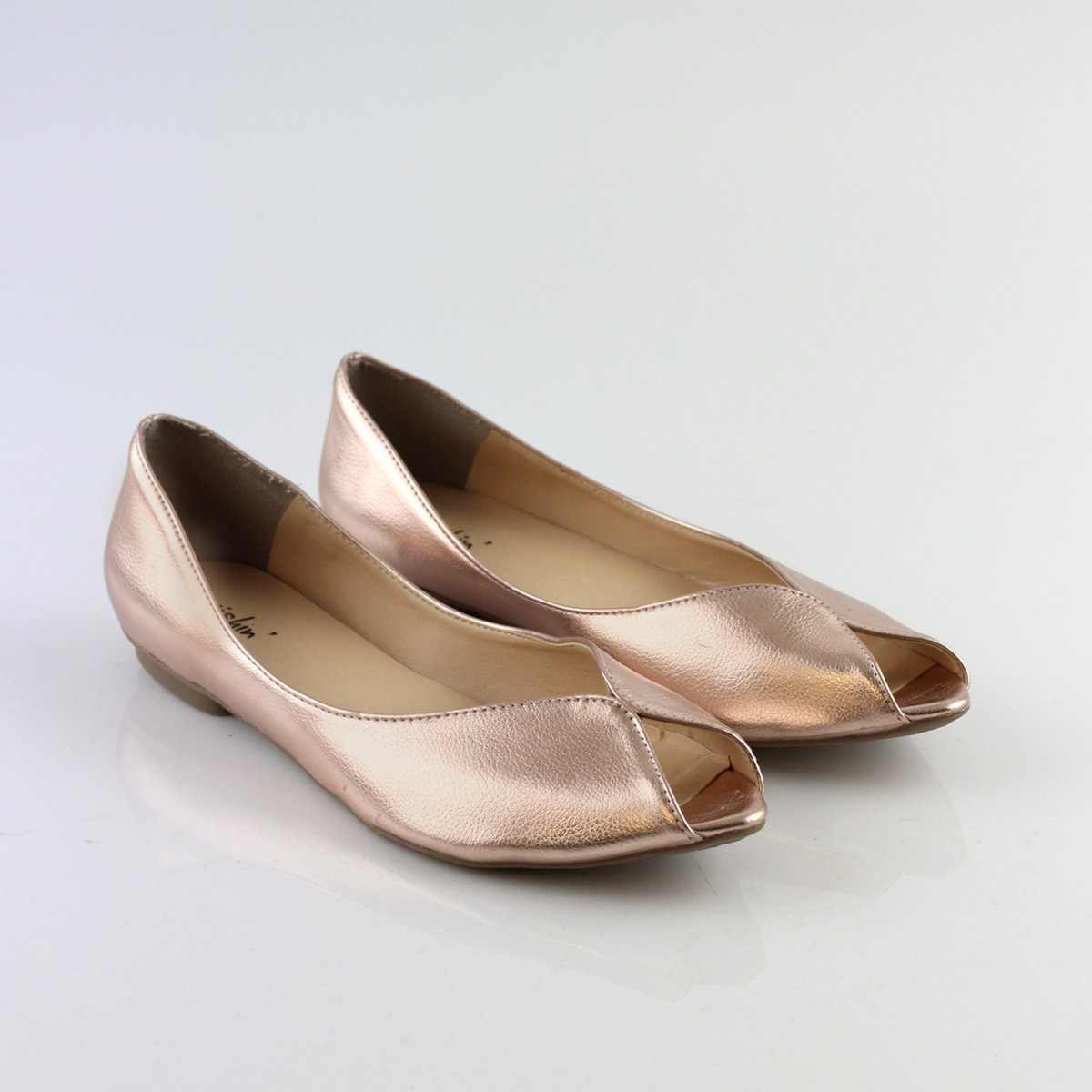 e909d69a0a Peep Toe Bico Fino Metalizada