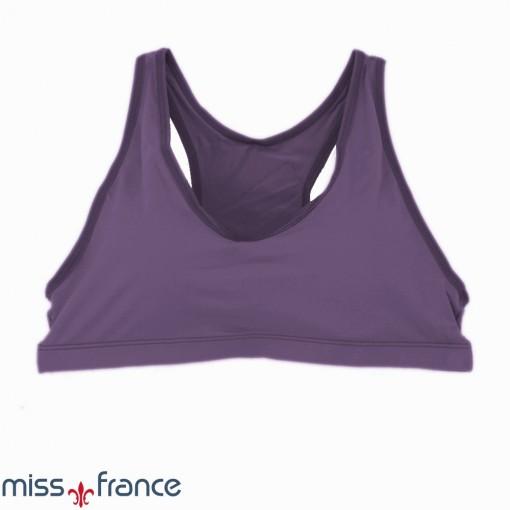 (MF-1828) Top com Bojo em Microfibra Miss France