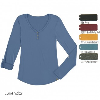 Imagem - (061) Blusa Basica C/ Botão Lunender ref: 061