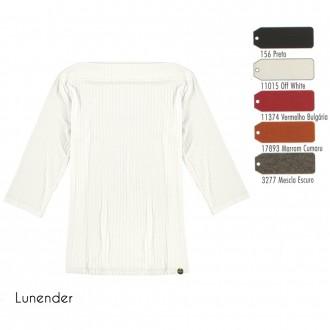 Imagem - (0310) Blusa Malha Canelada Feminino Lunender ref: 0310