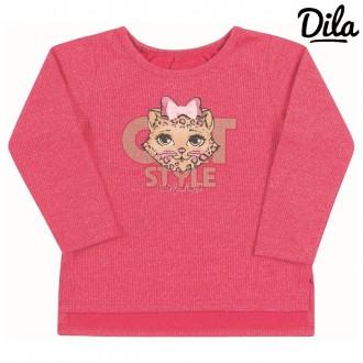 Imagem - (15001790) Blusa em malha canelada Feminino infantil Dilla ref: 15001790