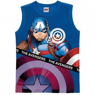 Imagem - (1000083161) Regata Masculina Infantil Avengers Marvel - Malwee Kids ref: 1000083161