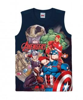 Imagem - (1000083162) Regata Masculina Infantil Avengers Marvel - Malwee Kids ; ref: 1000083162