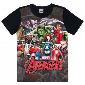 Imagem - (1000083163) Camiseta Masculina Infantil Avengers Marvel - Malwee Kids; ref: 1000083163